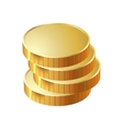 money coin pile of gold vector image vector image
