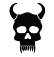 Monster skull with horns vector image vector image