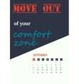 motivation quotes calendar 2017 vector image vector image