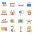 Movie Icons Line vector image vector image