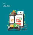 online shop flat style design vector image vector image