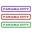 panama city watermark stamp vector image vector image