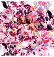 pattern with abstract flowers painted by spots vector image vector image