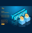 process of ripple and ethereum cryptocurrencies vector image