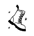 punk rock collection military boot monochrome
