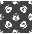 Purse with euros pattern vector image vector image