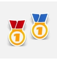 realistic design element medal vector image vector image