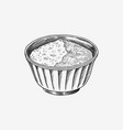 salt or sugar in a bowl spices or cereals vector image