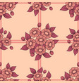 seamless coral flowers lattice background vector image vector image