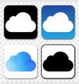 set icloud logos vector image