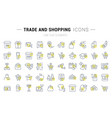 set line icons trade and shopping vector image