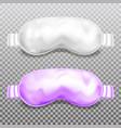 sleep mask eye flight blindfold 3d mockup vector image