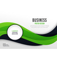 stylish green theme business presentation vector image vector image