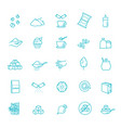 sugar icon set in thin line style vector image vector image