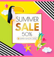 summer sale layout design template paper art vector image