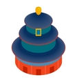 temple heaven icon isometric 3d style vector image vector image