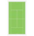 Tennis field vector image