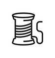 thread spool icon on white background vector image vector image