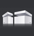 white open boxes vector image vector image