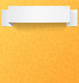 White sheets of paper on a orange background vector image vector image