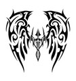 wings tattoo in tribal art style angel wings vector image vector image
