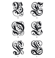 gothic letters vector image