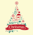 Vintage Christmas card Celebration background vector image