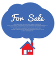 Home For Sale vector image