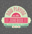 1950s jukebox style logo design vector image