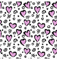 abstract background with a pattern hearts a vector image