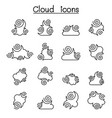 abstract cloud chinese cloud curl cloud cloud vector image vector image