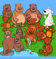 bears animal characters cartoon vector image