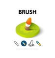 Brush icon in different style vector image