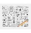 Business idea doodles vector image vector image