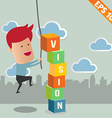 Business man with business word - - EPS10 vector image vector image