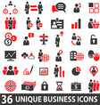 BusinessIconsRed vector image vector image