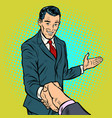 businessman handshake partnership and cooperation vector image