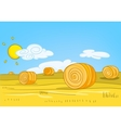 cartoon nature landscape vector image vector image
