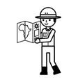 character safari concept vector image vector image