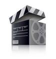 cinema concept movie black vector image vector image