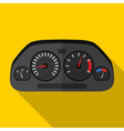 Colorful car dashboard icon in modern flat style vector image vector image