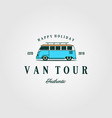 combi car van tour authentic t shirt vintage logo vector image