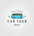 combi car van tour authentic t shirt vintage logo vector image vector image