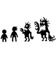 corrupting identity silhouette vector image