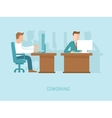 coworking concept in flat style vector image vector image