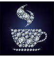 Cup made up a lot of diamonds vector image vector image