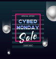 cyber monday media concept banner business offer vector image vector image