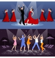 Dancing People Compositions vector image vector image