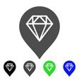 diamond map marker flat icon vector image vector image