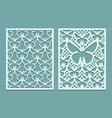 die and laser cut decorative lace panels patterns vector image